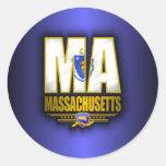 Massachusetts (MA) Etiqueta Redonda