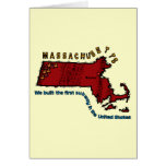Massachusetts MA Motto ~ We built the first Subway Greeting Cards