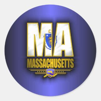 Massachusetts (MA) Pegatina Redonda