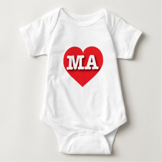 Massachusetts MA red heart T Shirts