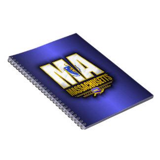 Massachusetts (MA) Spiral Notebook