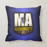 Massachusetts (MA) Throw Pillow