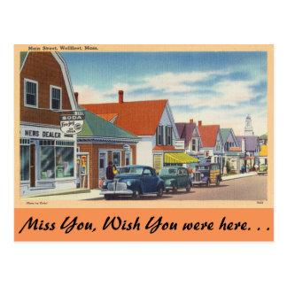 Massachusetts, Main Street, Wellfleet Postcard