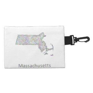Massachusetts map accessory bag