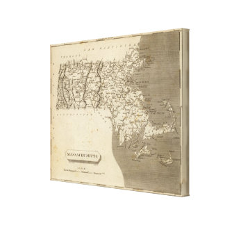 Massachusetts Map by Arrowsmith Gallery Wrapped Canvas