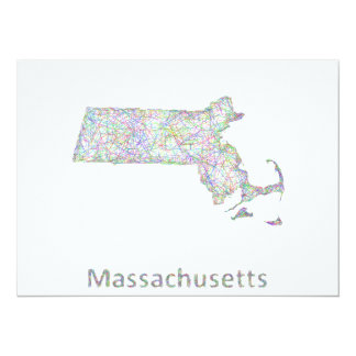 Massachusetts map card