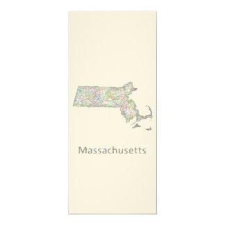 Massachusetts map card