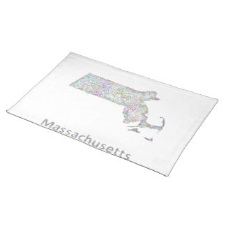 Massachusetts map cloth placemat