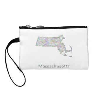 Massachusetts map coin wallet