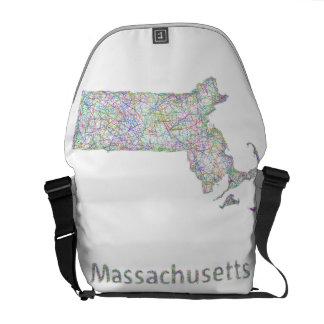 Massachusetts map courier bag