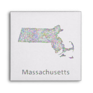 Massachusetts map envelope