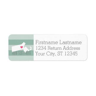 Massachusetts Map Home State Love - Custom Heart Label