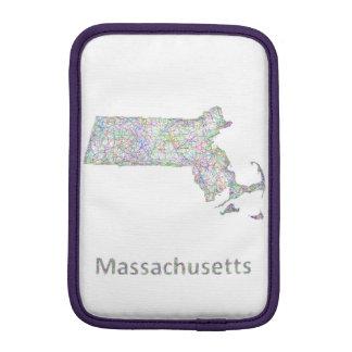 Massachusetts map iPad mini sleeves