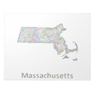 Massachusetts map notepad
