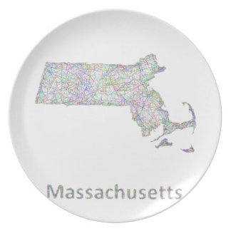 Massachusetts map plate