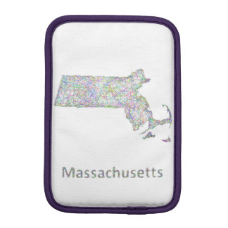 Massachusetts map sleeve for iPad mini
