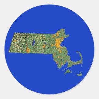 Massachusetts Map Sticker