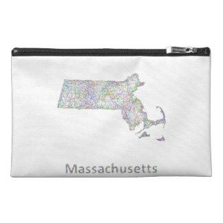 Massachusetts map travel accessory bag