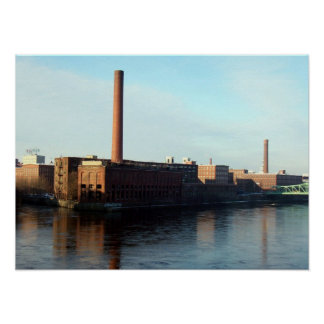 Massachusetts Mills on the Merrimack Poster