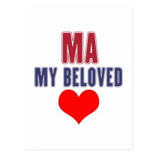 Massachusetts my beloved postcard