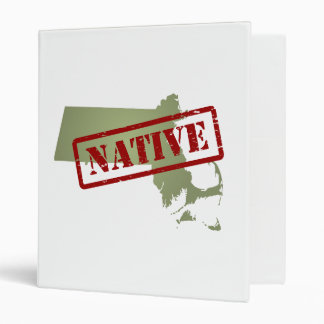 Massachusetts Native with Massachusetts Map Binder