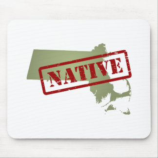 Massachusetts Native with Massachusetts Map Mouse Pad