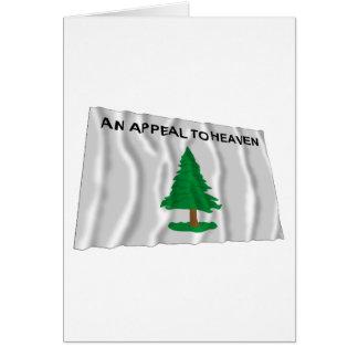 Massachusetts Navy Flag Greeting Card