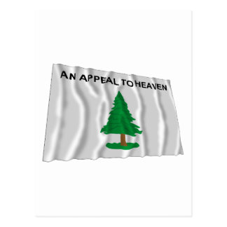 Massachusetts Navy Flag Postcard