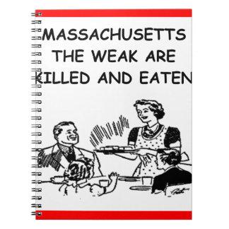 massachusetts notebook