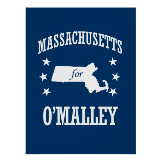 MASSACHUSETTS PARA O'MALLEY PÓSTER