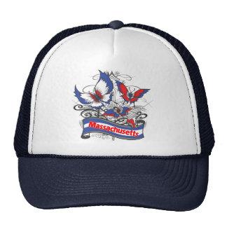 Massachusetts Patriotism Butterfly Trucker Hat