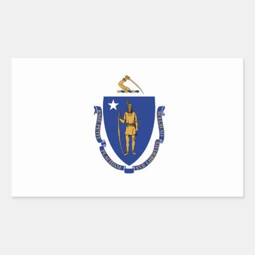 Massachusetts Pegatina Rectangular