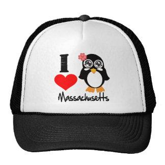 Massachusetts Penguin - I Love Massachusetts Trucker Hat