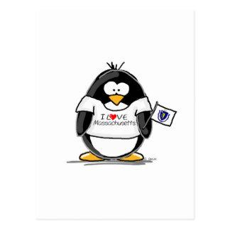 Massachusetts penguin postcard