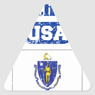 MASSACHUSETTS PERFECT TOGETHER DISTRESSED PRODUCTS TRIANGLE STICKER