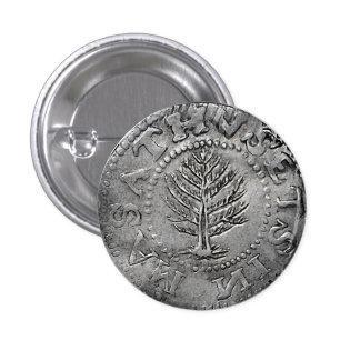 Massachusetts Pine Tree Coin Pinback Button
