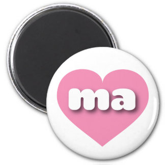 Massachusetts pink heart - mini love magnet