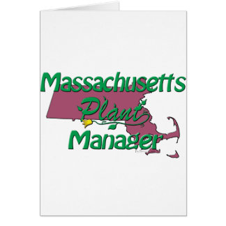 Massachusetts Plant Manager Card