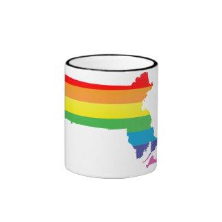 massachusetts pride. ringer mug