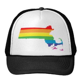 massachusetts pride. trucker hat