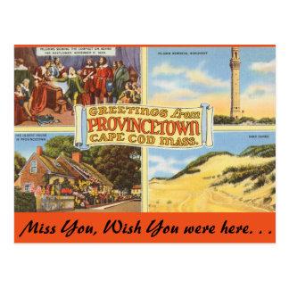 Massachusetts Provincetown, Cape Cod Postcard