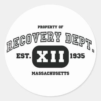 MASSACHUSETTS Recovery Classic Round Sticker