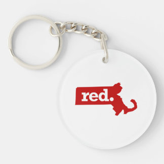 MASSACHUSETTS RED STATE KEYCHAIN