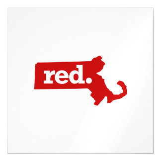 MASSACHUSETTS RED STATE MAGNETIC CARD