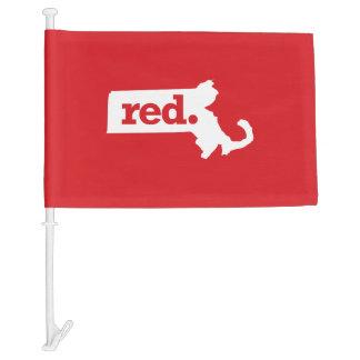 Massachusetts Republican Car Flag