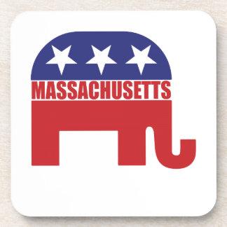 Massachusetts Republican Elephant Drink Coaster