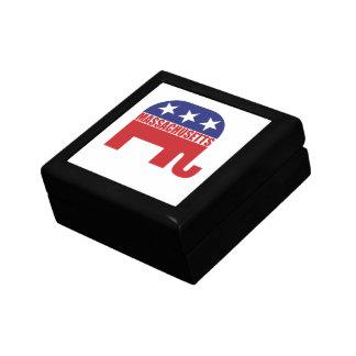 Massachusetts Republican Elephant Keepsake Box