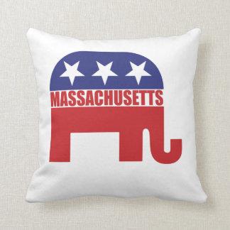 Massachusetts Republican Elephant Pillow