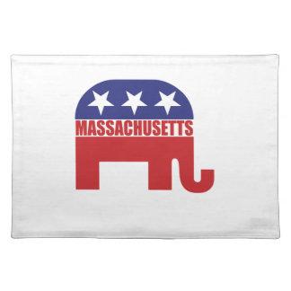Massachusetts Republican Elephant Place Mat