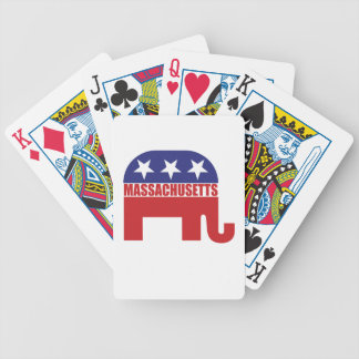 Massachusetts Republican Elephant Bicycle Poker Cards